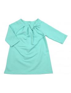Платье бирюзовое с рукавом три четверти