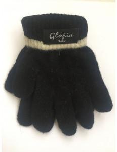 Перчатки зимние черного цвета Glopia