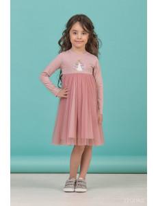 """Платье для девочек с длинным рукавом цвета сухая роза """"Spring"""""""